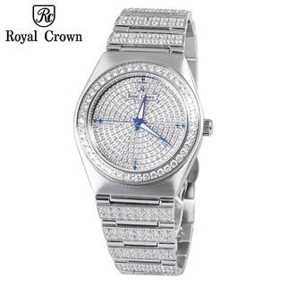 Đồng hồ nam chính hãng Royal Crown 6416 dây thép Diamond