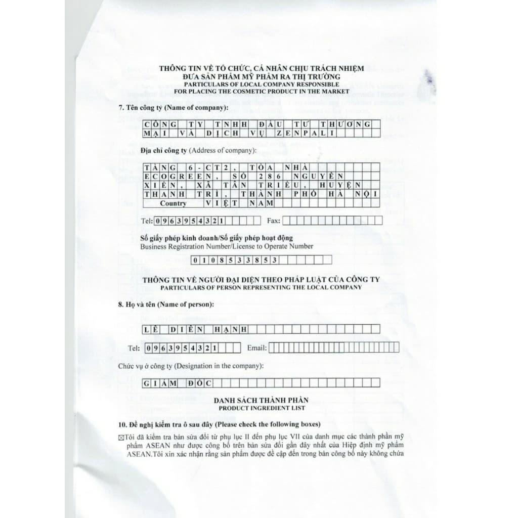 [Mã COS2405 giảm 8% đơn 300K] [ CAM KẾT CHÍNH HÃNG] Detox Chuối Zenpali Thải Chì Giảm Thâm (chuối zen pali)