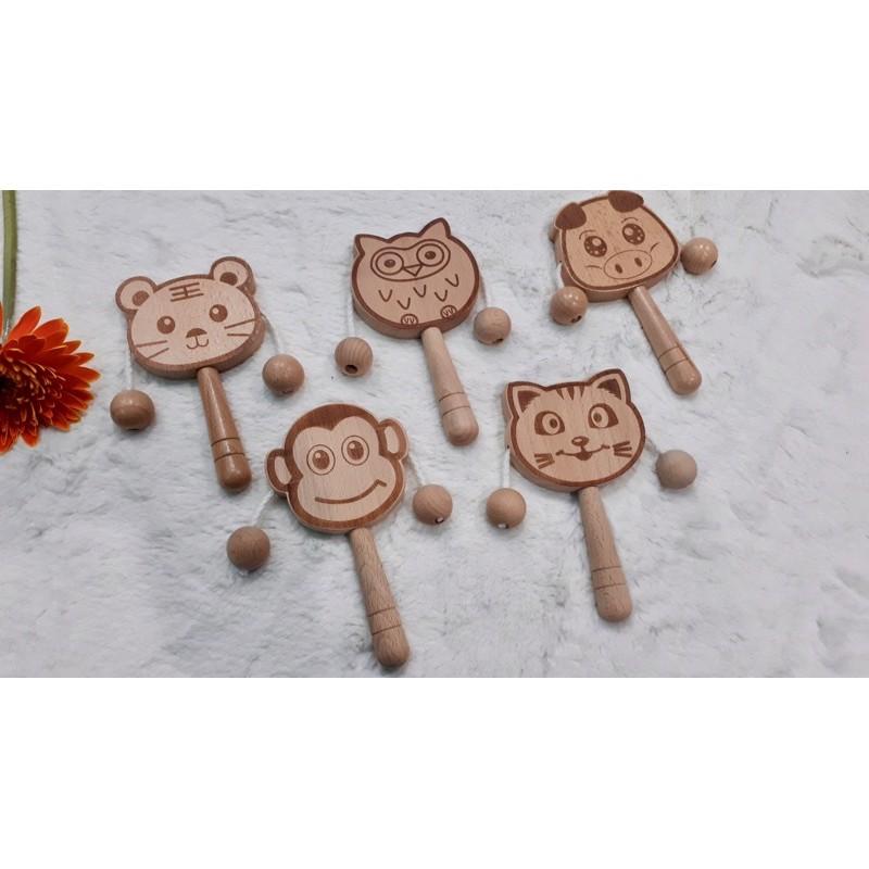 đồ chơi xúc sắc gỗ mặt động vật cho bé. Ngân – đồ chơi thông minh