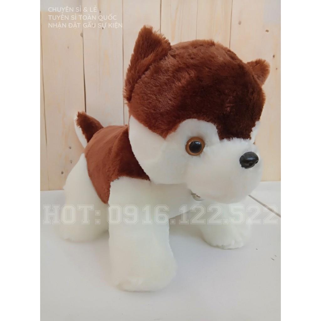 Gấu bông Chó Sói Ngồi Nhí Siêu Dễ Thương Giá Rẻ Nhất Sài Gòn