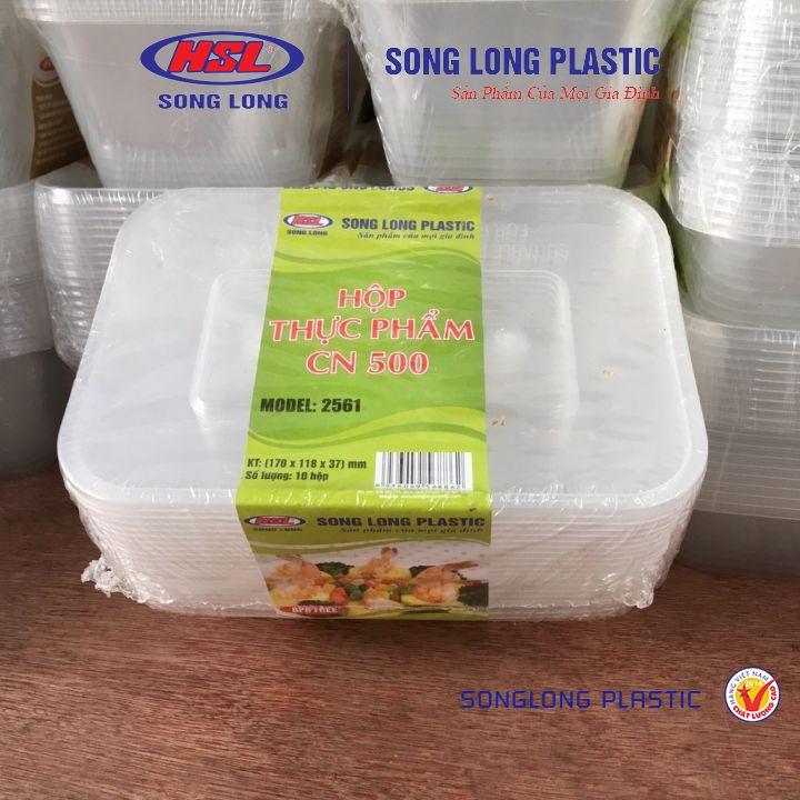 Combo 10 Hộp Nhựa Đựng Thực Phẩm Vuông Dùng 1 Lần Song Long -CÁC CỠ