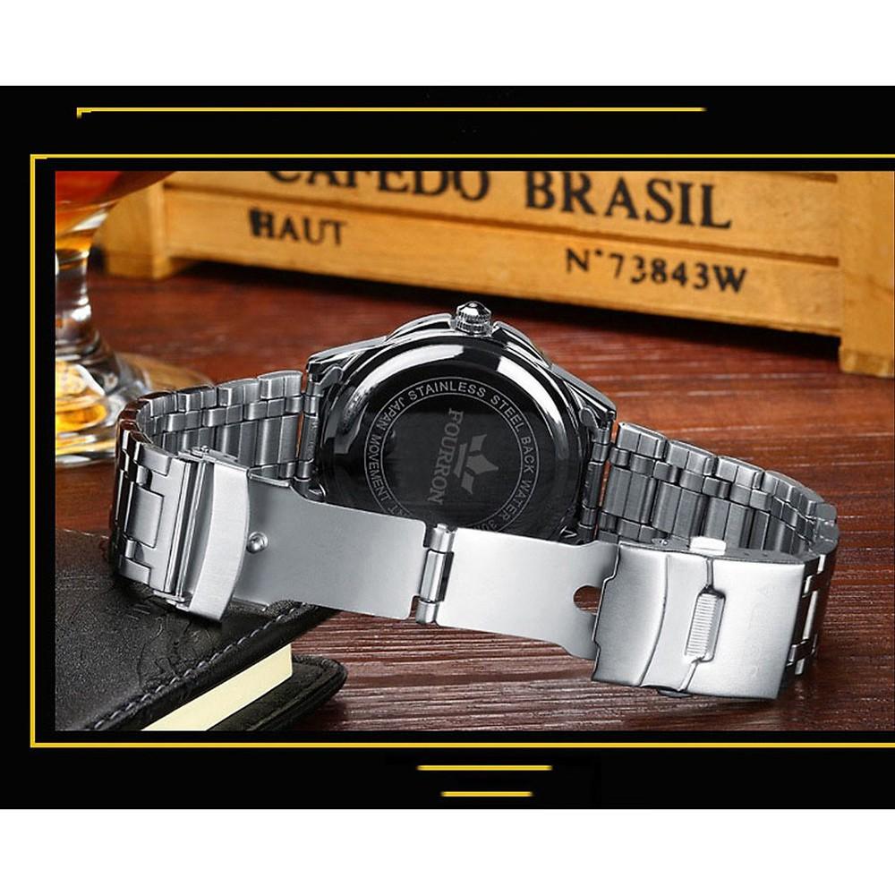 [HOT SALE] Đồng hồ nam FOURRON Japan DL688 dây hợp kim thép không gỉ cao cấp (3 màu)