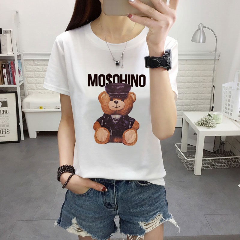 ✠❆❐Fertilizer plus-size women's 200 kg fat MM summer wear short-sleeved t-shirts female loose show thin han edition ren