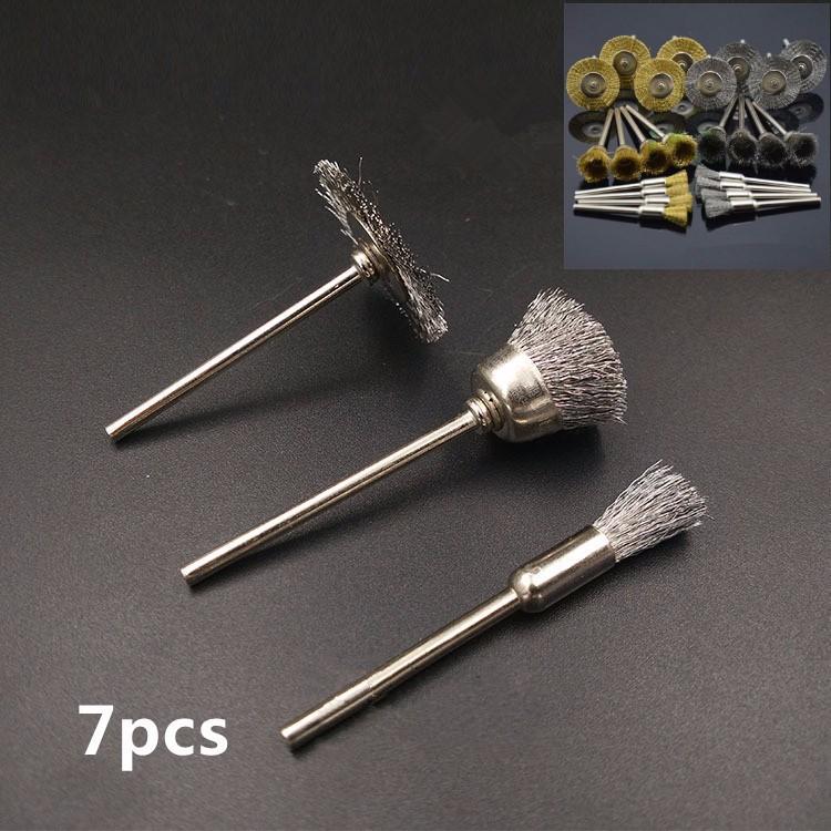 Bộ 7 bàn chải mini cán 3mm