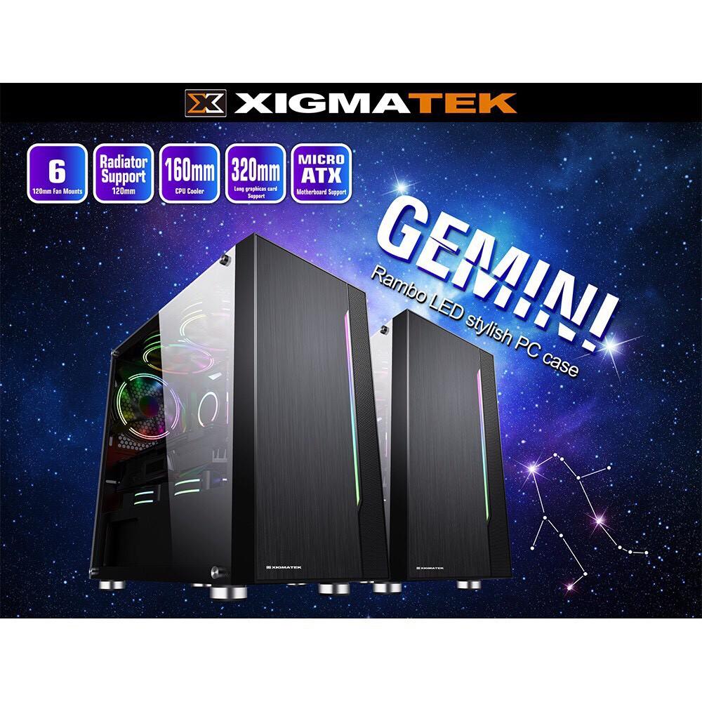 [Mã 267ELSALE hoàn 7% đơn 300K] Vỏ case XIMATECK Gemini Màu đen