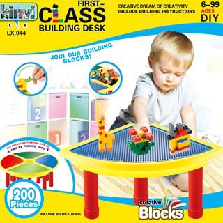 bộ 200 khối gỗ xếp hình đồ chơi cho bé
