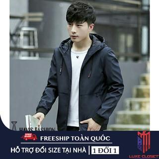 Áo khoác nam vải dù Hàn Quốc có nón cao cấp cực đẹp AKD23