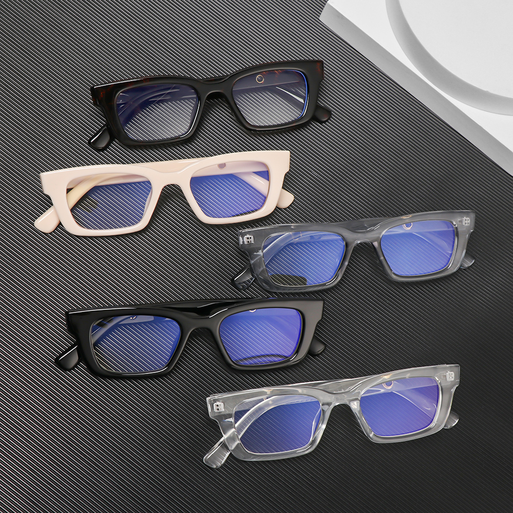 💎OKDEALS💎 Men Women Anti-blue Light Glasses Radiation Protection Vintage Eyeglasses Square Frame Eyewear Vision Care Fashion Blue Light Blocking Retro...