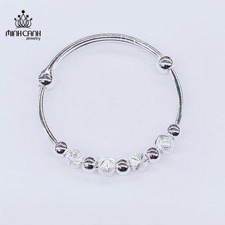 Lắc Bạc Trẻ Em Họa Tiết Chuỗi Bi - Minh Canh Jewelry