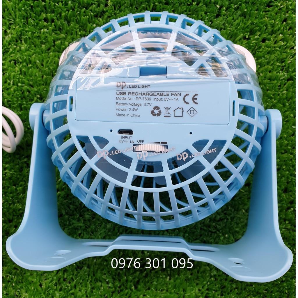 Quạt Tích Điện Để Bàn mini DP-7609