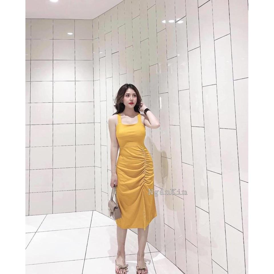 Váy body NHÚN HÔNG DÂY X LƯNG (ảnh, video thật)