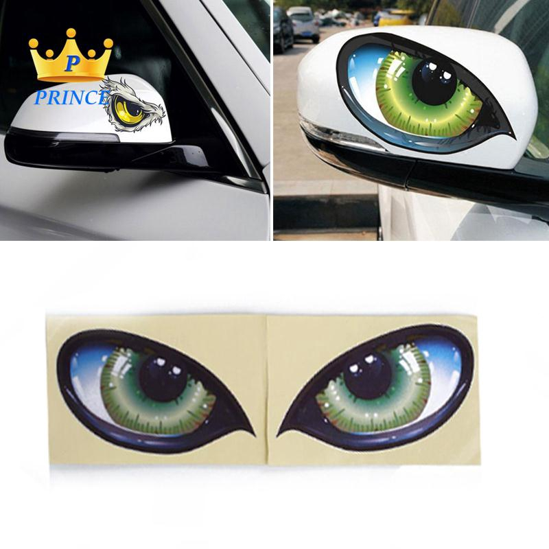 3D Stereo Multicolor Funny D 601 Car Auto Side Fender Eye Sticker Decorations