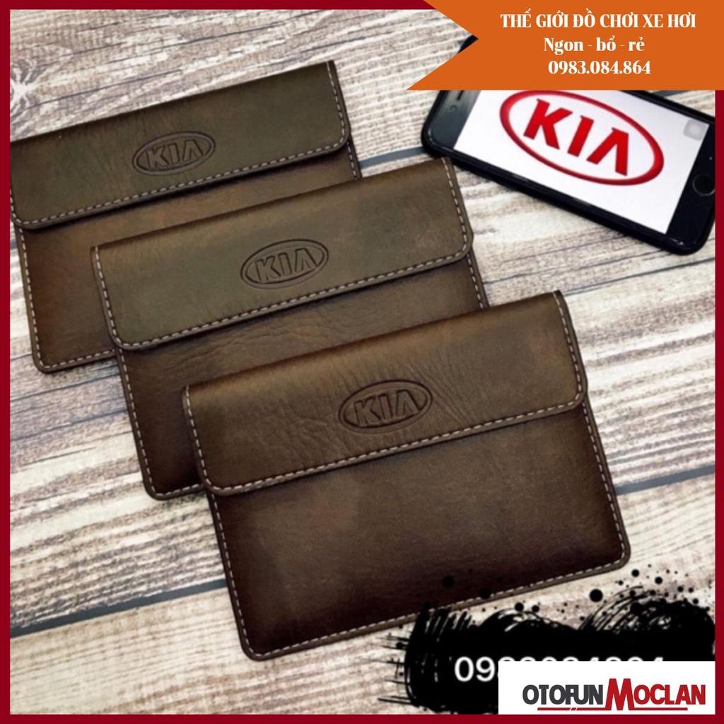[ BÁN CHẠY NHẤT] Ví đựng giấy tờ xe ví đăng kiểm có logo hãng bán giá sỉ tại xưởng