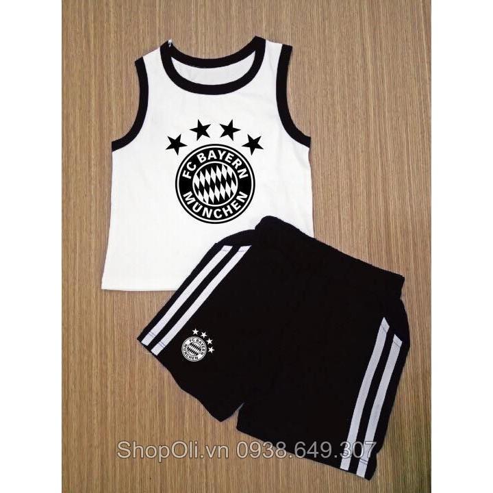 Đồ thể thao trẻ em ba lỗ trắng đen Bayern cotton 100% - 10064159 , 345919998 , 322_345919998 , 120000 , Do-the-thao-tre-em-ba-lo-trang-den-Bayern-cotton-100Phan-Tram-322_345919998 , shopee.vn , Đồ thể thao trẻ em ba lỗ trắng đen Bayern cotton 100%
