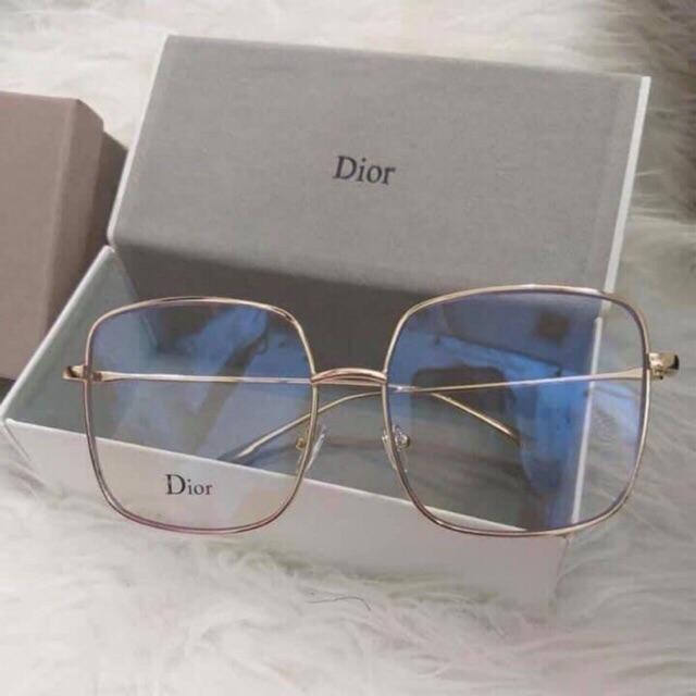 พร้อมส่ง แว่นDiorขอบทองเลนส์ใส ได้ครบเซท
