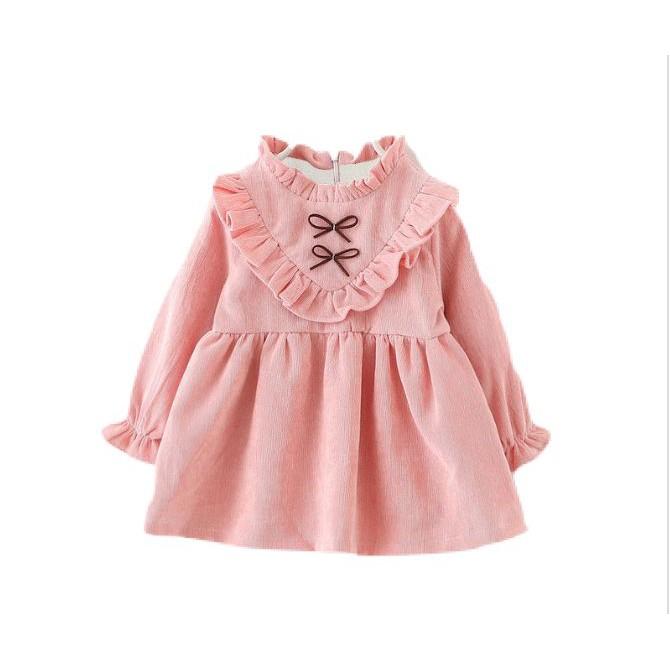 Váy nhung lót lông cho bé gái