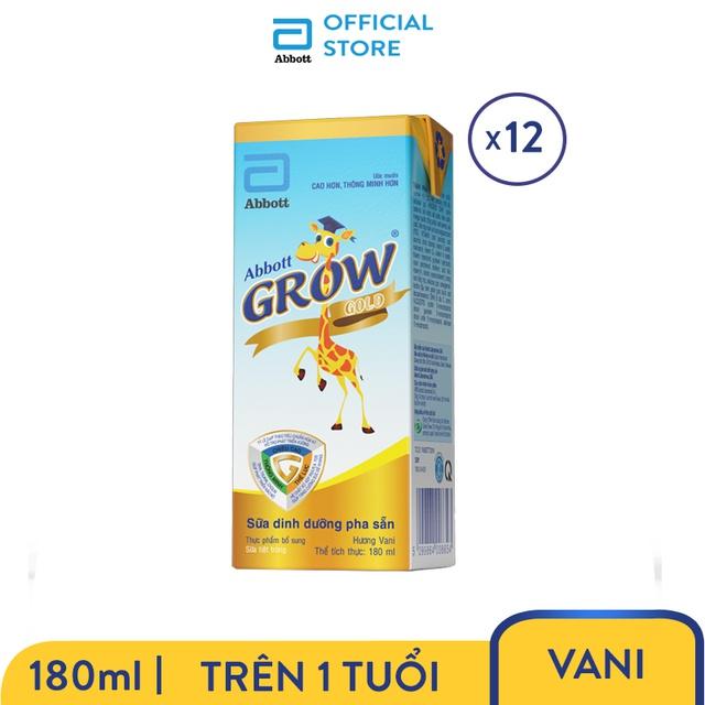 Bộ 3 Lốc 4 hộp Sữa nước Abbott Grow Gold 180ml