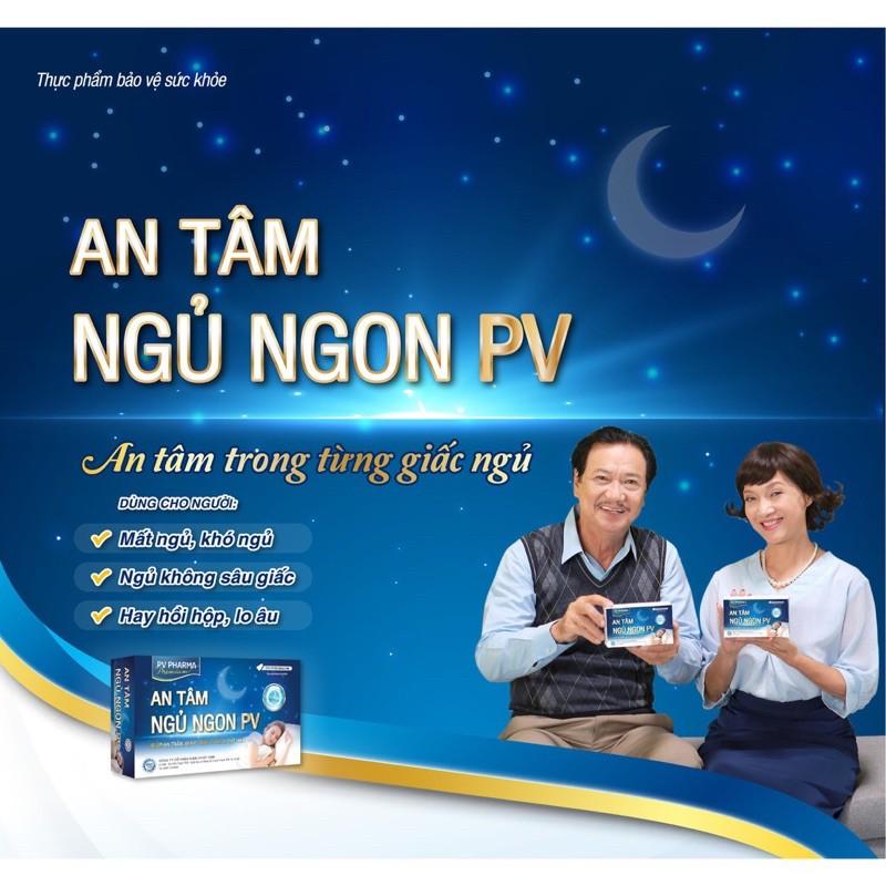 CHÍNH HÃNG ] An Tâm Ngủ Ngon PV - Giúp an thần, giảm căng thẳng, mất ngủ - hộp 50 viên chính hãng 176,000đ