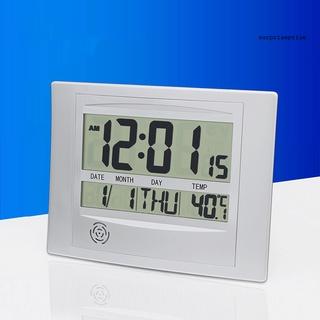 Đồng hồ điện tử mini màn hình lcd 2 trong 1 tiện dụng cho gia đình - hình 1