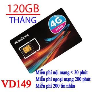 [Miễn phí 1 năm] SIM 4G VD149 Vinaphone 4GB/ngày, Gọi Nội Mạng 30 Phút Và Ngoại Mạng 200 Phút