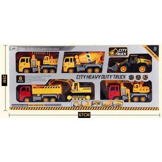 Bộ Xe Công Trình Đồ Chơi City Truck 6PCS