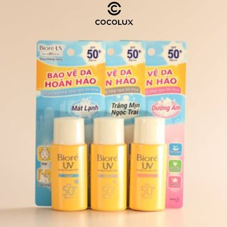 [Công Ty, Tem Phụ] Sữa Chống Nắng Bioré UV Perfect Block Milk SPF50/PA+++ 25ml-[COCOLUX]-[Biore]