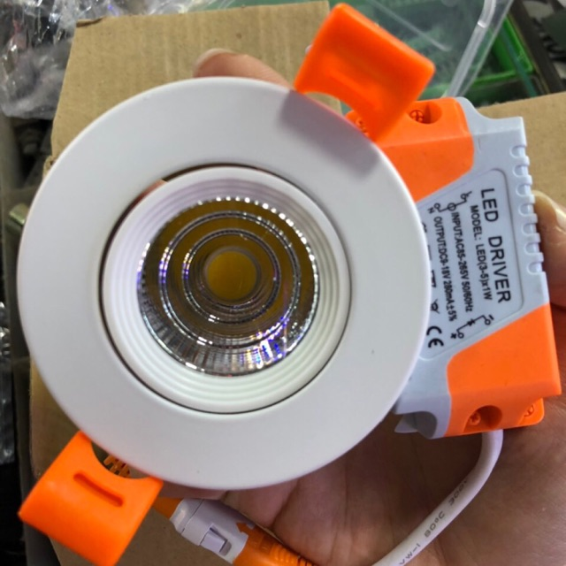 Đèn led âm trần (downlight) 3W tủ rượu, tủ bếp