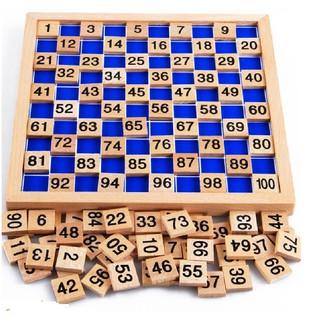 combo 5 bảng đếm số từ 1 đến 100 Giáo cụ montessori