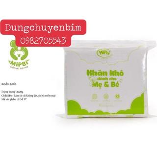 MIPBI - Khăn khô đa năng dành cho mẹ và bé Mipbi 600g (560-580 tờ) - HÀNG CHÍNH HÃNG