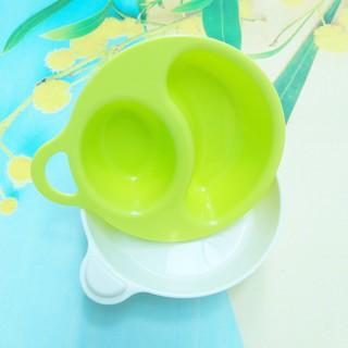 Bát ăn dặm chia ngăn Inomata Hàng Nhật cho bé (màu xanh lá)