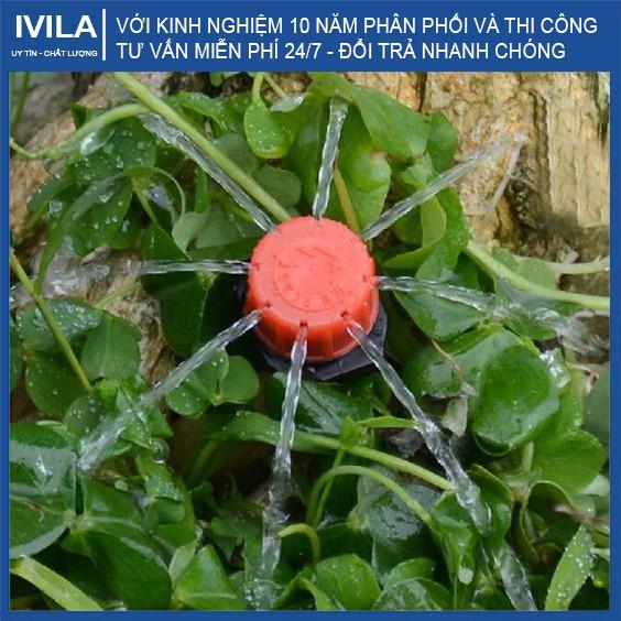 Béc tưới nhỏ giọt 8 tia - Đầu tưới điều chỉnh được lưu lượng - Tưới gốc cây bán kính 20-30cm