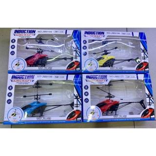 Máy bay trực thăng mini cảm ứng bằng tay có đèn