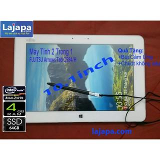 [Xả Kho 3 Ngày] Máy tính 2 trong 1 Màn 2K (2560×1440 pixel) Fujitsu Arrows Tab Q584H Cảm Ứng 10.1 Inch laptop re LAJAPA