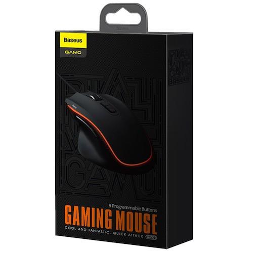 Chuột chơi Game Baseus Gamo GM01 với 9 nút bấm lập trình cảm biến quang di chuyển linh hoạt