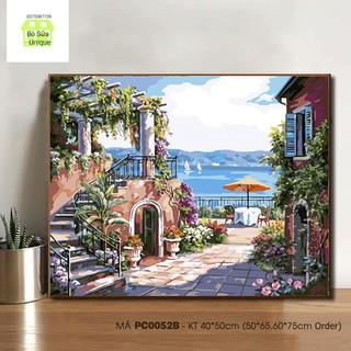 Tranh số hóa khung dày 2.5cm và đầy đủ phụ kiện mã PC0052B tranh phong cảnh