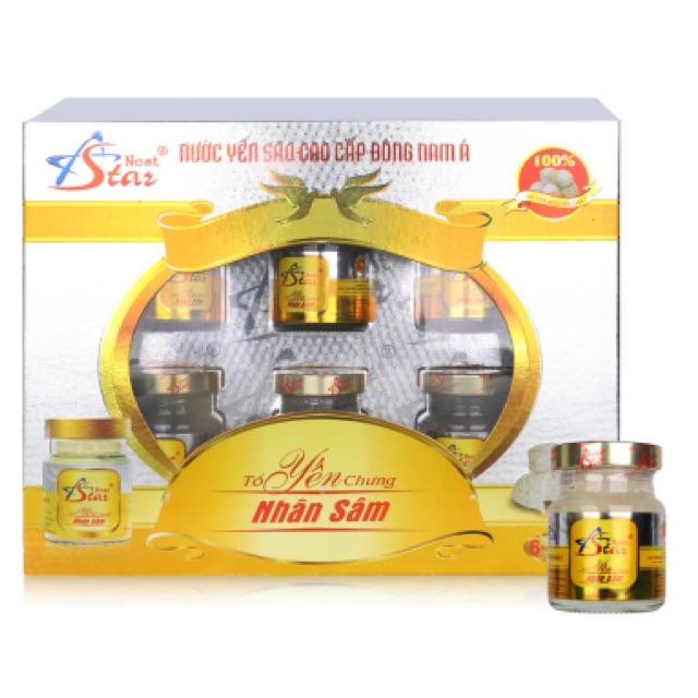 Bộ 6 chai Nước yến nhân sâm Nest Star - 2558600 , 436271600 , 322_436271600 , 300000 , Bo-6-chai-Nuoc-yen-nhan-sam-Nest-Star-322_436271600 , shopee.vn , Bộ 6 chai Nước yến nhân sâm Nest Star