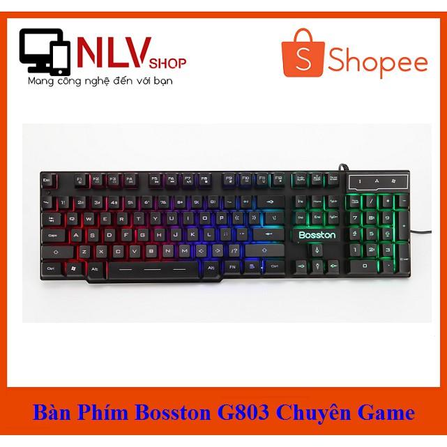 ?Free Ship? Bàn phím giả cơ Bosston 803 Led 7 màu chính hãng - G803