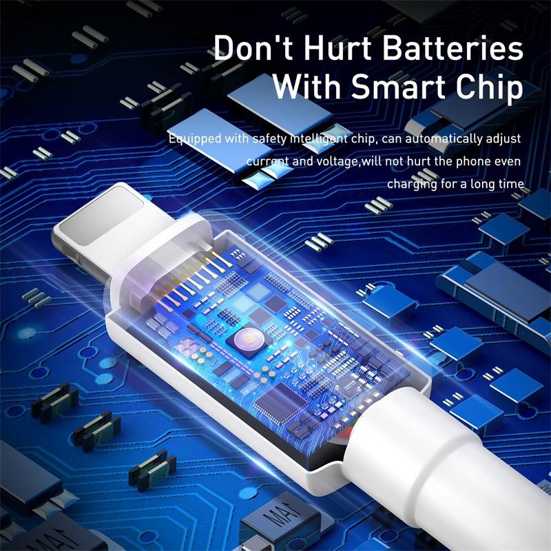 Dây cáp hiệu Baseus rẻ và tiện dụng cho điện thoại iPhone