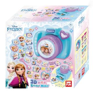 Children Kids Camera Shaped Snow Magic Frozen Princess Sticker Decal Machine DIY Creative Stickers