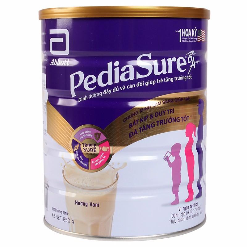 (sc365) sữa bột abbott pediasure 850g hương vani