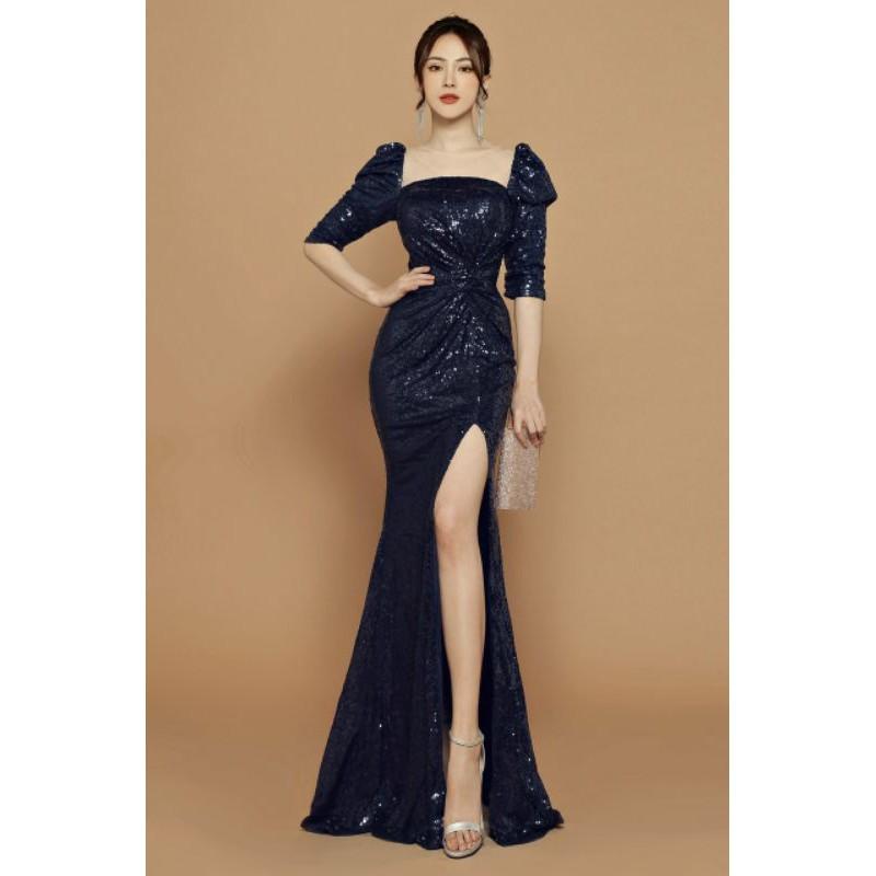 Đầm dạ tiệc kim sa lấp lánh