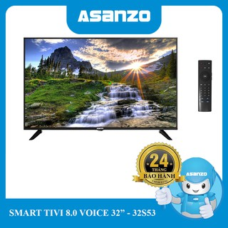 Tivi Smart Asanzo 32″ (Android 8.0 + Voice) – 32S53 (Kèm remote giọng nói)