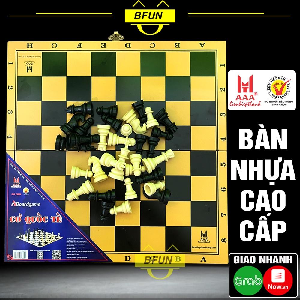 Cờ Vua Quốc Tế Liên Hiệp Thành (LOẠI VỪA) - Bộ Cờ Vua Bàn Nhựa Cao Cấp, Boardgame Đồ Chơi Trí Tuệ Thông Minh Cho Bé BFUN