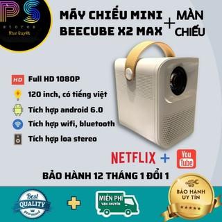 Máy Chiếu Mini BeeCube X2 MAX – FULL HD 1080 – Bảo Hành 12 Tháng tặng màn chiếu cao cấp 500k
