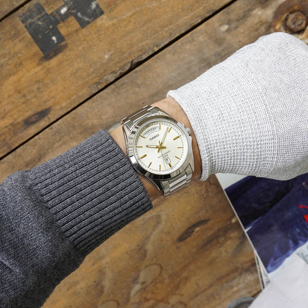 Đồng hồ nam dây kim loại Casio Standard chính hãng Anh Khuê MTP-1370D-9AVDF