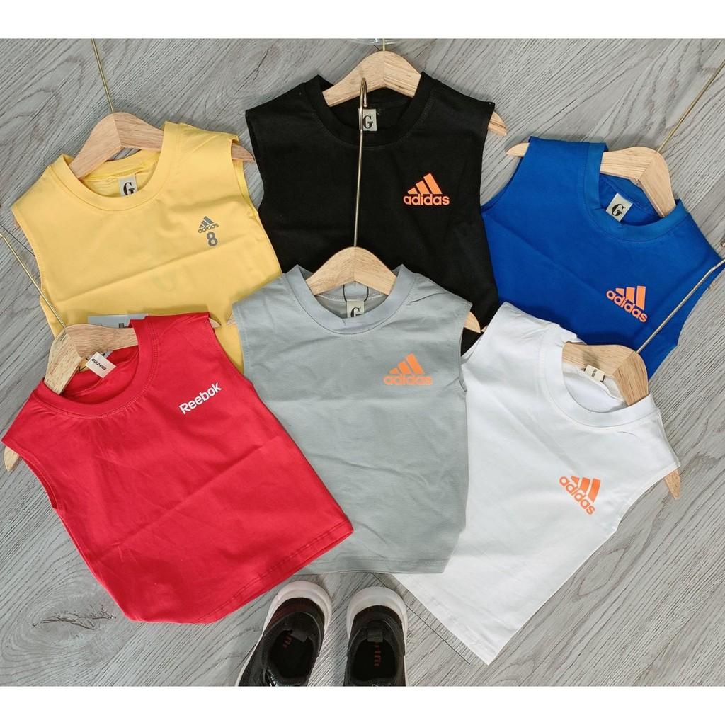 Lyvyshop - (Cotton loại đẹp) Áo Adidas sát nách bé trai từ 09-24kg
