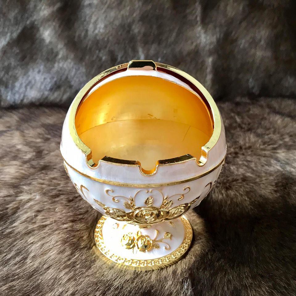 Gạt tàn thuốc Mạ vàng hoàng gia Thái Lan chân cao