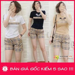 Bộ đùi mặc nhà nữ phối sọc cao cấp size 40-68kg