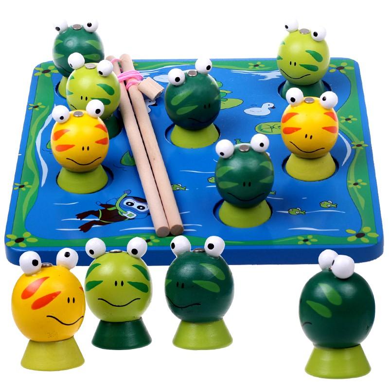 Đồ chơi câu ếch nam châm (gỗ)