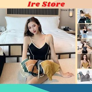 Áo Lót Nữ Đẩy Nâng Ngực Phối Áo Croptop, Áo Bra Cotton Thể Thao Tập Gym - Ire Store thumbnail